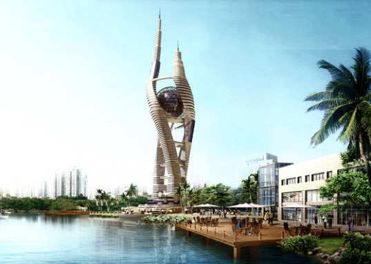 eco tower, eco skyscraper, cairo, spiraling tower, wind energy, solar energy, mixed-use development