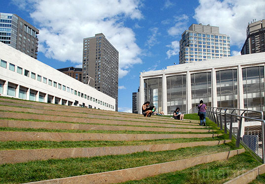 Lincoln Center Remodel Includes Giant Sloping Rooftop