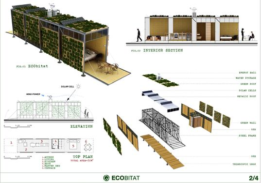 Ecobitat lush modular prefab with living green walls for Architecture design modular home