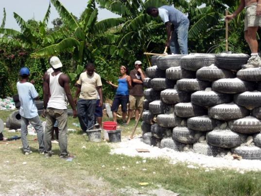 haiti, disaster relief housing, earthship, michael reynolds, sustainable housing