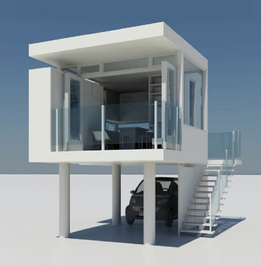 Modern House Designs Elevated: L41 Prefab Home Packs A Whole Lot Into A Tiny (and