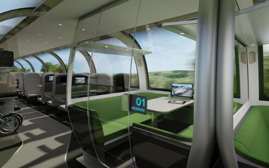 high speed train, high speed rail, britain, luxury travel, green transportation, priestmangoode