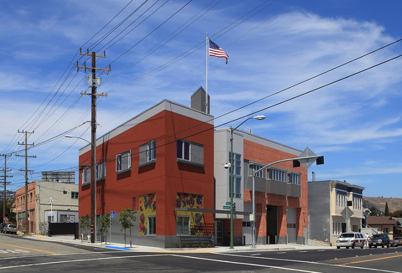 oakland, oakland fire station, fire station, fire department, leed certified fire station, LEED, LEED Gold,
