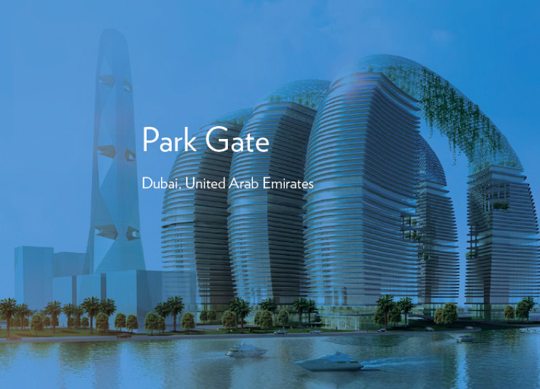 as+gg, adrian smith + gordon gill, park gate, solar powered canopy, hanging gardens, dubai
