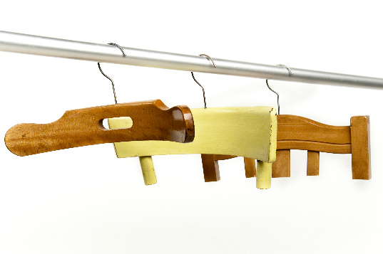 Antonello Fusè, recycled chairs, clothes hangers, green product, eco product