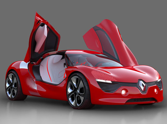 renault, renault dezir, renault electric car, electric race car, high end electric car, green transportation, renewable enery transportation, paris auto show, french electric car