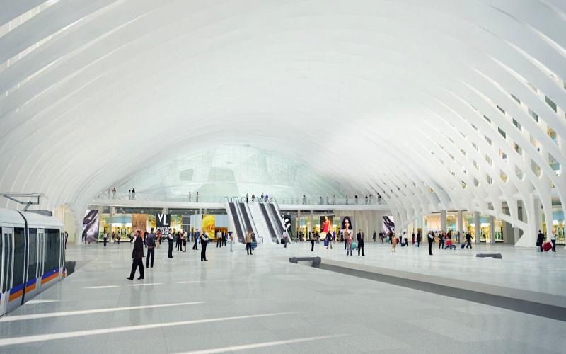 santiago calatrava, train station, denver international airport, airport expansion, green architecture