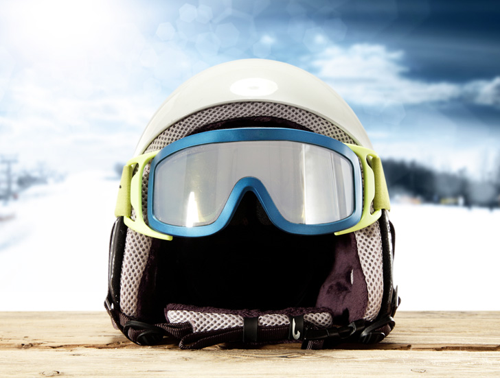 A ski helmet that can detect head injuries and inform first responders.