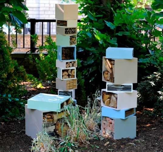 bee hotel, bug hotel, london, london parks, beyond the hive, design competition, sustainable materials