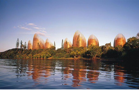 Tjibaou Cultural Center, new caledonia, renzo piano, traditional architecture, green building, green architecture