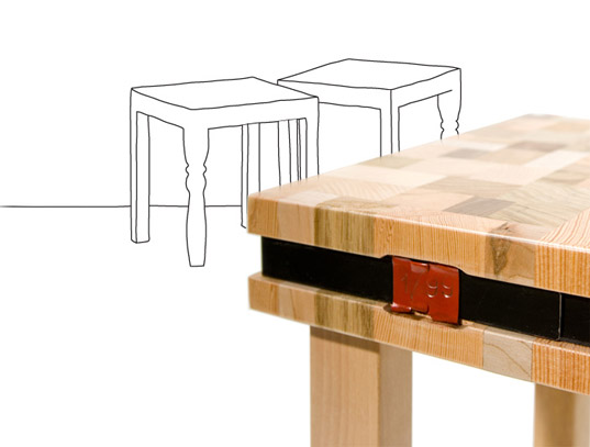 ubico studio, stools, tables, recycled wood stump series, waste wood, recycled tables, recycled materials, recycled furniture, green furiture