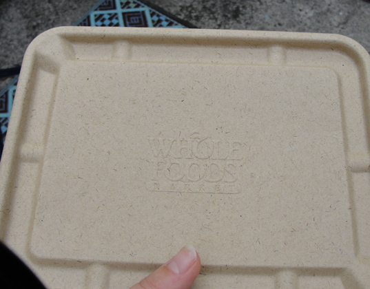 sustainable design, green design, packaging the future, biodegradable packaging, green packaging, composting test, green materials, whole foods deli container