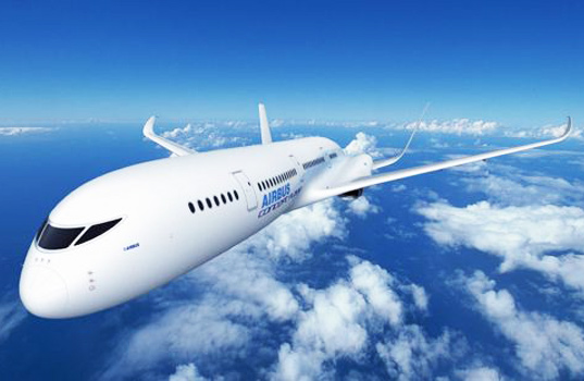 air travel, airbus, aircraft, fuel efficient airplanes, greener transportation, sustainable design, farnborough air show