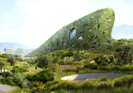 galije, mvrdv, green architecture, montenegro, eco resort, green resort, aston martin, resort disguised as mountain, hidden resort, hotel disguised as mountain, eco architecture, green roof, green wall, eco design, green design, sustainable design