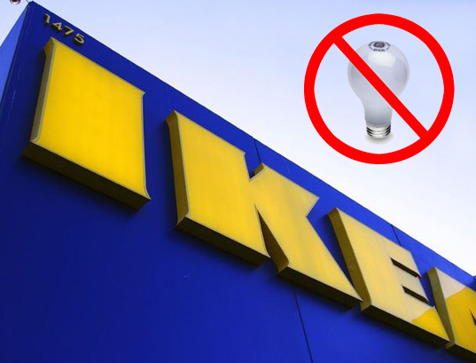 ikea, incandescent bulbs, cfls, led lighting, solar lighting, energy efficiency, retailers, lighting, sustainable design