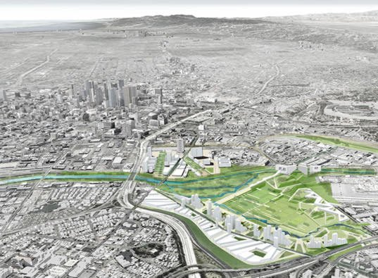 La dreams of a new downtown river park inhabitat green for Los angeles innovation consultants