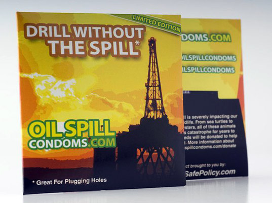 Oil Spill Condoms, condoms, Gulf Oil Spill, BP, birth control