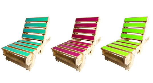 Vibrant Fold Out Pallet Chairs Upcycled From Old Shipping Pallets!    Inhabitat   Green Design, Innovation, Architecture, Green Building