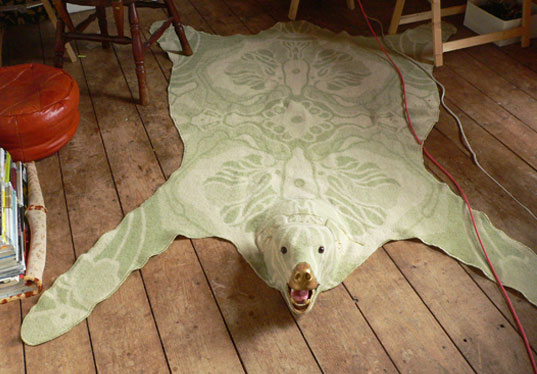 recycled faux bearskin rug inhabitat green design innovation architecture green building. Black Bedroom Furniture Sets. Home Design Ideas