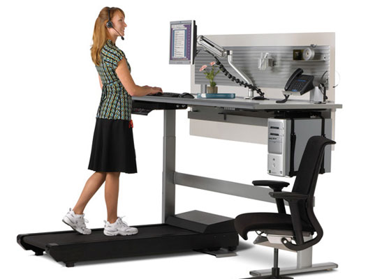 Sit to Walkstation Desk Treadmill Burn Calories While You Work