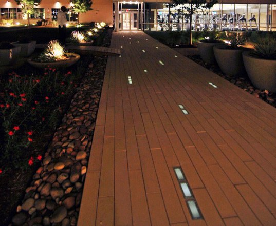 Luminous Solar Cynergy Pavers Light Up The Night In Dallas