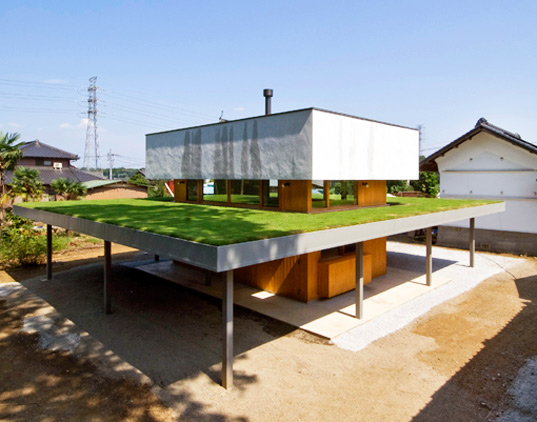 farm, green roof, green space, japan, studio archi farm, eco house, green building