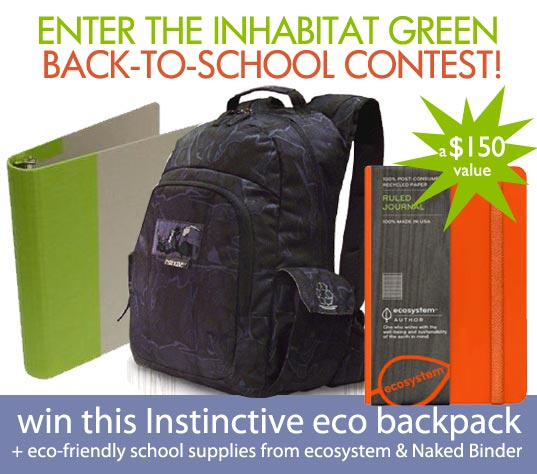 sustainable design, green design, instinctive bags, back to school contest