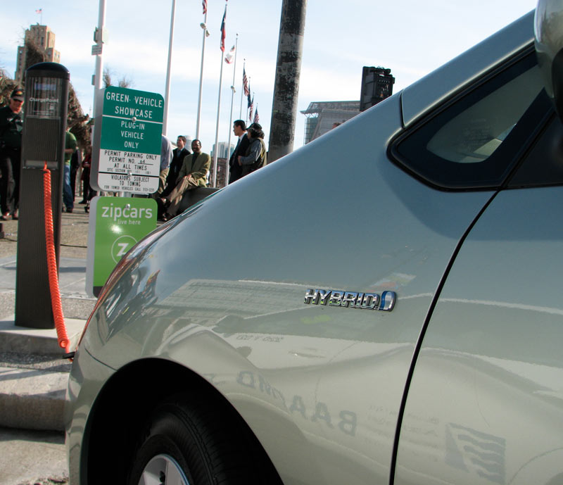 ev charching stations, evs, san francisco, san jose, spare the air, electric vehicles, sustainable design, zipcar