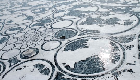 World S Largest Artwork Created On Frozen Lake Baikal