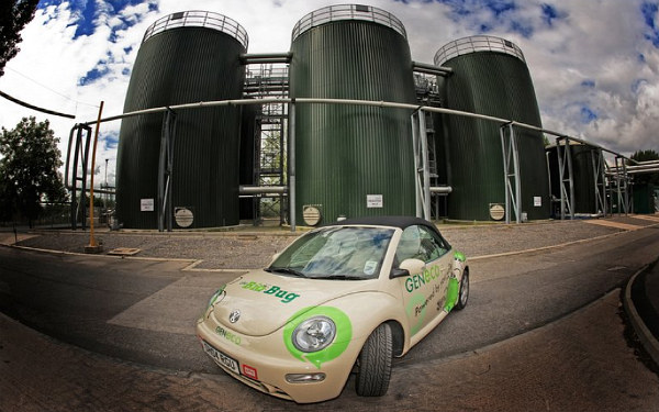 bio-bug, biogas, poo power, UK, vw Bug, poo powered VW Bug, green transportation