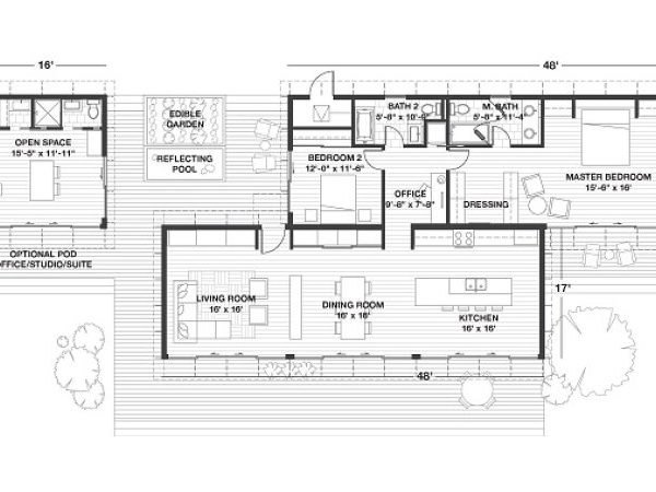 Blu Homes Releases Bigger, Better Glidehouse 2.0 Prefab on the chadwick floor plans, side breeze floor plans, kaufman house diagrams, palm springs house plans,