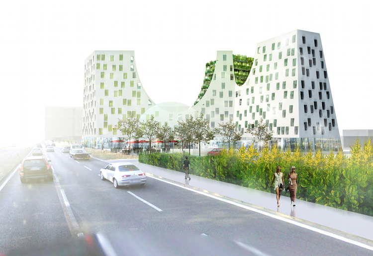 greenside out, urban design, joubert architecture, albania, terraced gardens, green building,