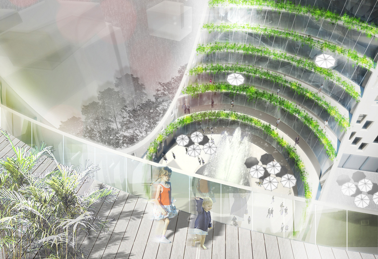 Terrace Building Design joubert architecture's condo project is green from the inside out