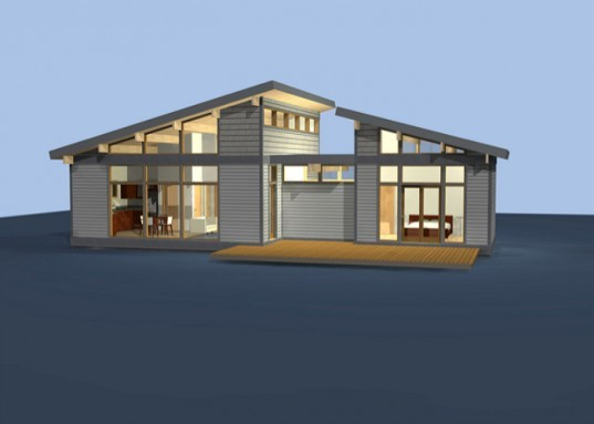 Predesigned green homes with lindal 39 s modern a frame for Lindal home plans