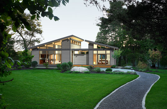 Lindal Homes Reinventing the A Frame Into a Modern Green Home