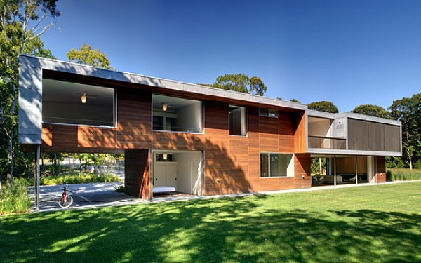 pryor residence, bates masi architects, prefab home, green building, sustainable architecture, montauk