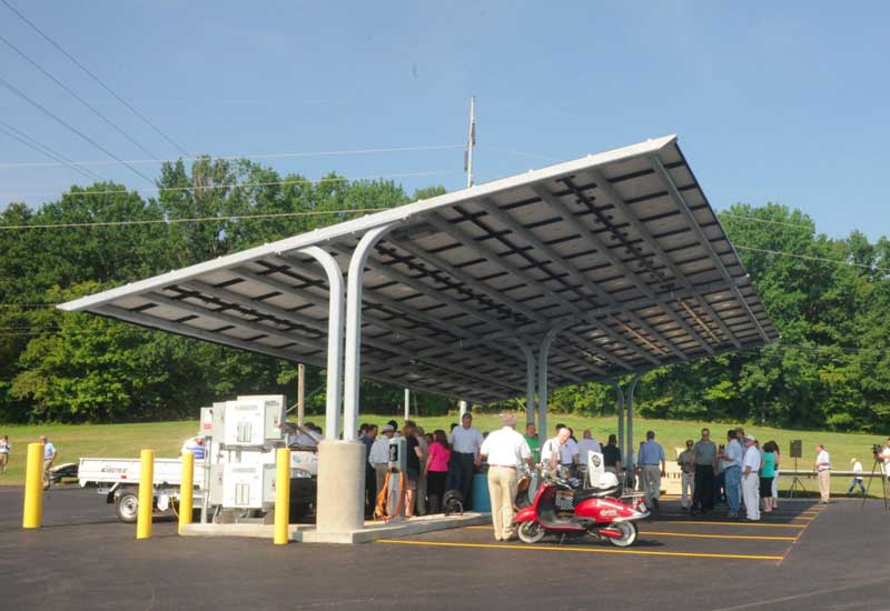 Rural Tennessee Town Gets Solar Parking Lot With Ev