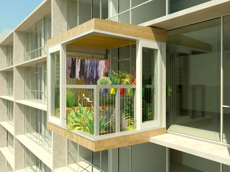 Clip On Plant Room Adds Green Space to Apartment Buildings