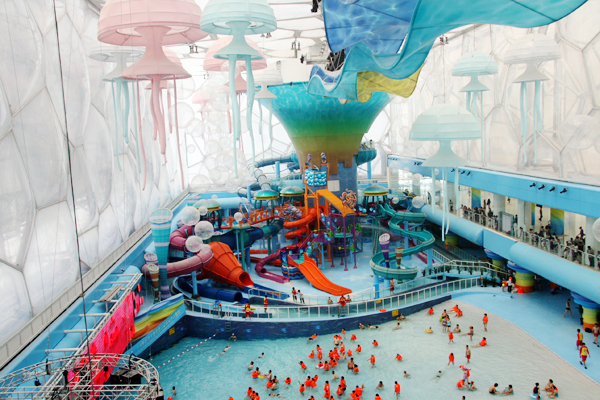 Beijing Water Cube Transformed Into Happy Magic Water Park