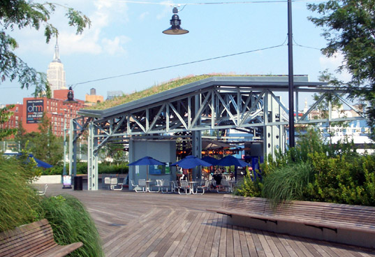 solar park, NYC green roof, crstudio New York green roof, green carousel, solar powered carousel, Pier 62, Chelsea Pier carousel