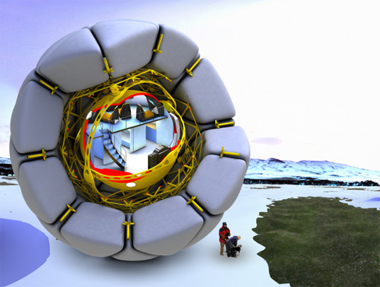 studio les metes, arctic drifter, wind powered transportation, arctic environmental issues
