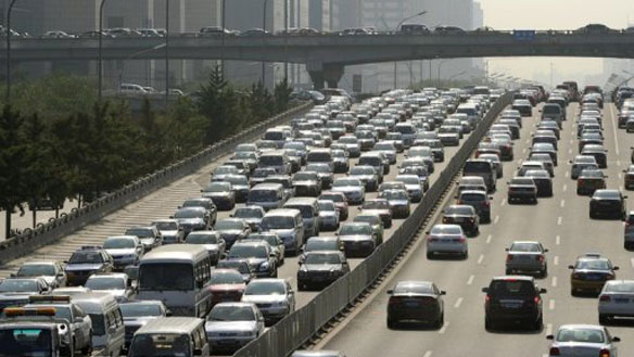 china, beijing, traffic, cars, urban planning, sustainable design, mass transit, traffic jam