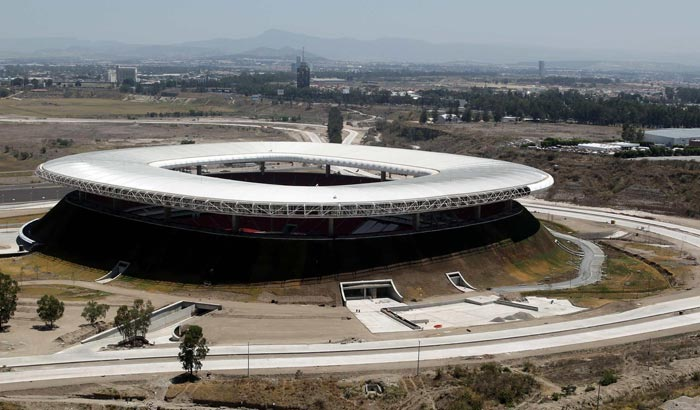 massaud, sustainable design, mexico, chivas stadium, rainwater recycling, volcanoes, biomimicry