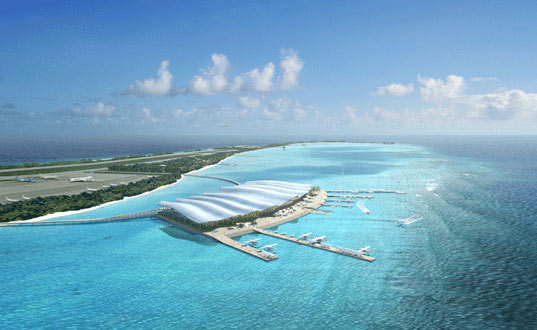 Hanimaadhoo Maldivian Airport Has A Curvaceous Clamshell