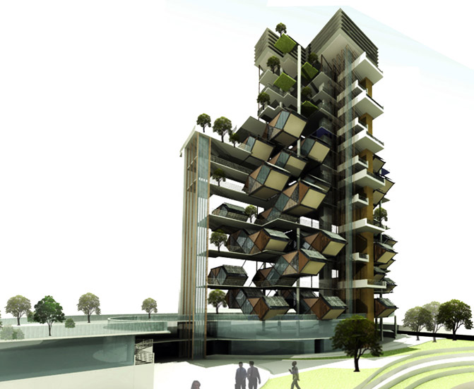 Tay Yee Wei, Malaysia, Pre-fab architecture, Plug-in Dwelling Development, green architecture, sustainable architecture, eco design