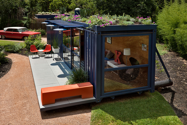 dwell, shipping container, container studio, poteet architects, green architecture
