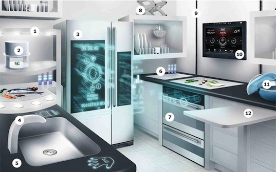 ikea, kitchen, 2040, smart energy, 3d food printer, holograms,  green design