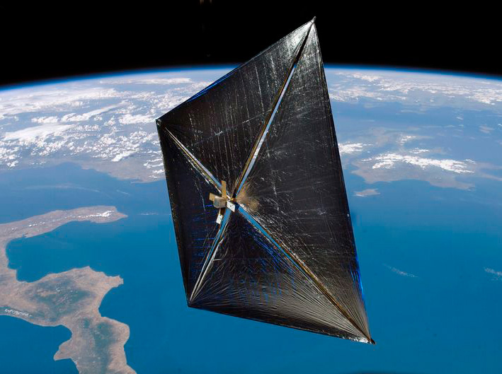 nanosail-d, nasa, solar sail, space junk, aerospace, aeronautical engineering, minotaur rockets, solar power, sustainable design