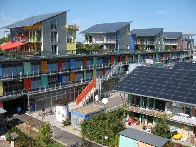 Rolf Disch, Solar design,passivhaus, green nieghborhood, german green home, green housing, green development, green mixed use, solar development, solar neighborhood, wood chip boiler, rainwater catchement, rainwater recycling,