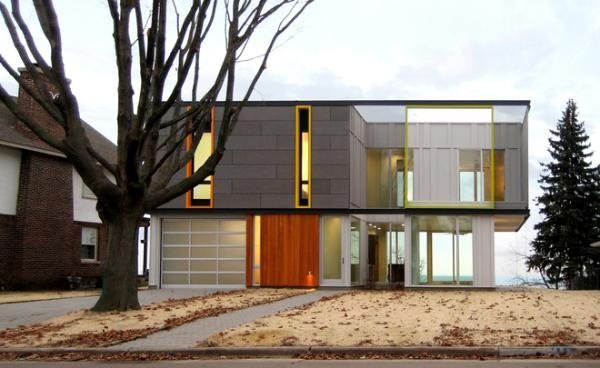 Green Modernest design, Racine Wisconsin home, OS House, Johnsen Schmaling Architects, LEED Platinum house, Green home,